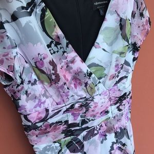 Connected Apparel Floral Pattern Dress